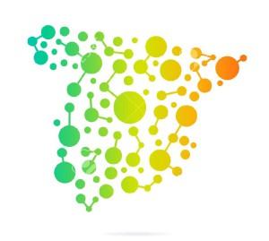 29394454-Espa-a-de-puntos-y-l-neas-de-un-mapa-de-imagen-del-concepto-del-trabajo-en-red-la-estructura-la-comu-Foto-de-archivo